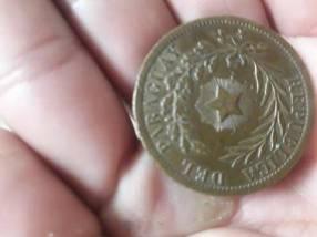 Moneda Antigua del Paraguay 1870