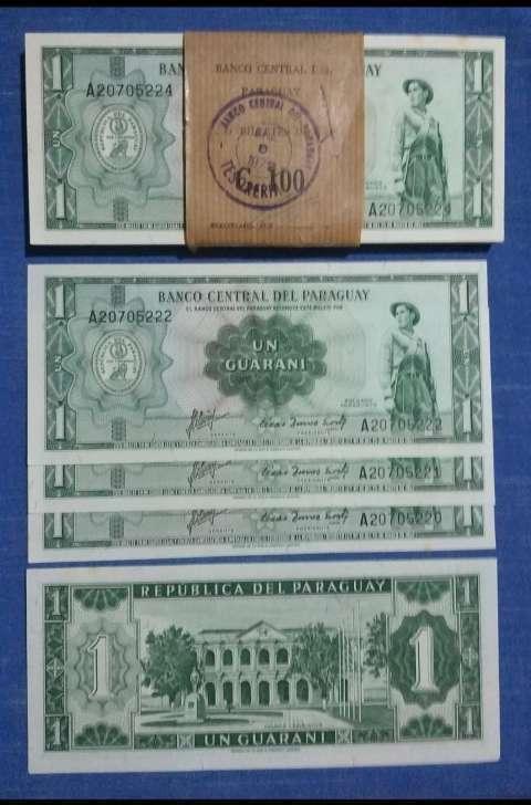 Billete antiguo de 1 guaraní - 0