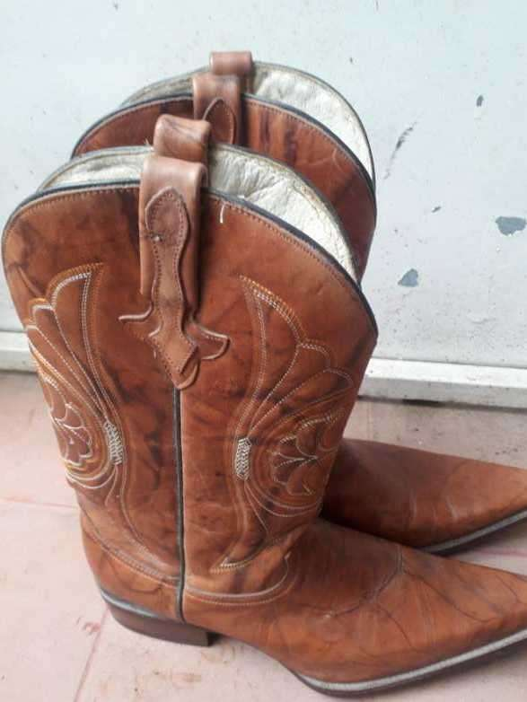 Bota texana impecable de cuero 100% - 3