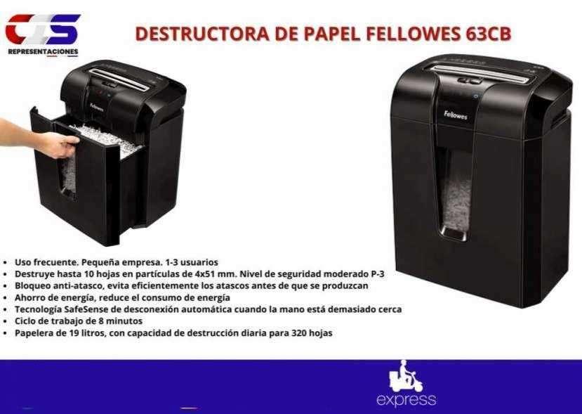 Destructora de papel Fellowes 63CB seguridad al desechar - 0