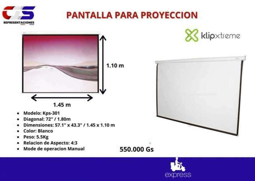 Pantalla para proyector manual Klip Xtreme 72 pulgadas - 0