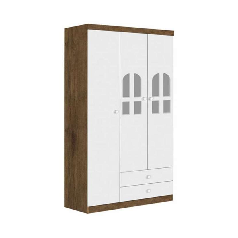 Ropero 3 puertas alvin j&a jequitibá blanco (30355)) - 1