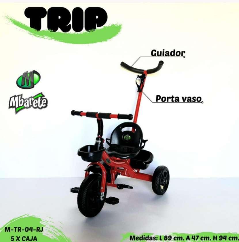 Triciclo con guiador - 0