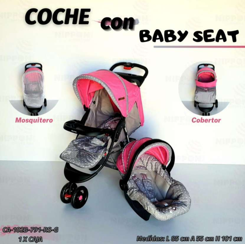 Carrito y baby seat - 0
