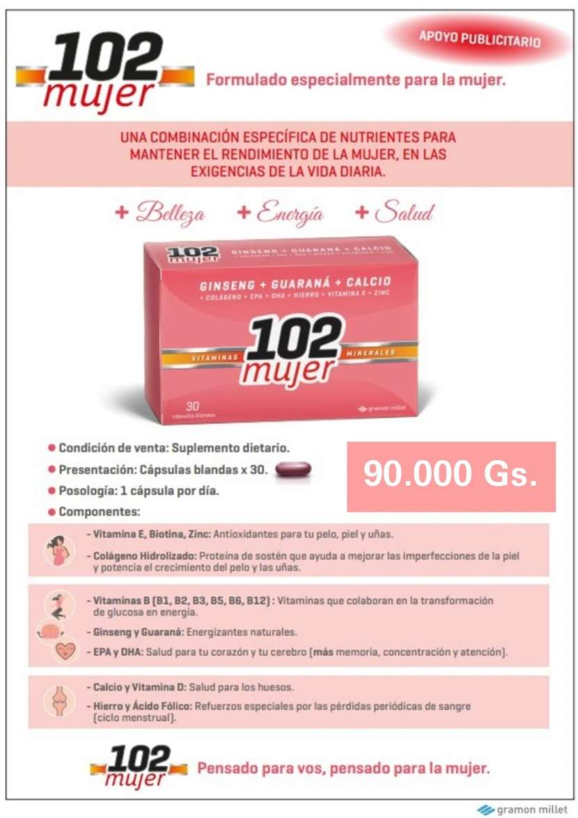Ginseng + Guaraná + Calcio + Vitaminas B D E Zinc + Colágeno - 0