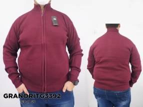 Suéter con cuello alto y cierre completo GRANORITG3392