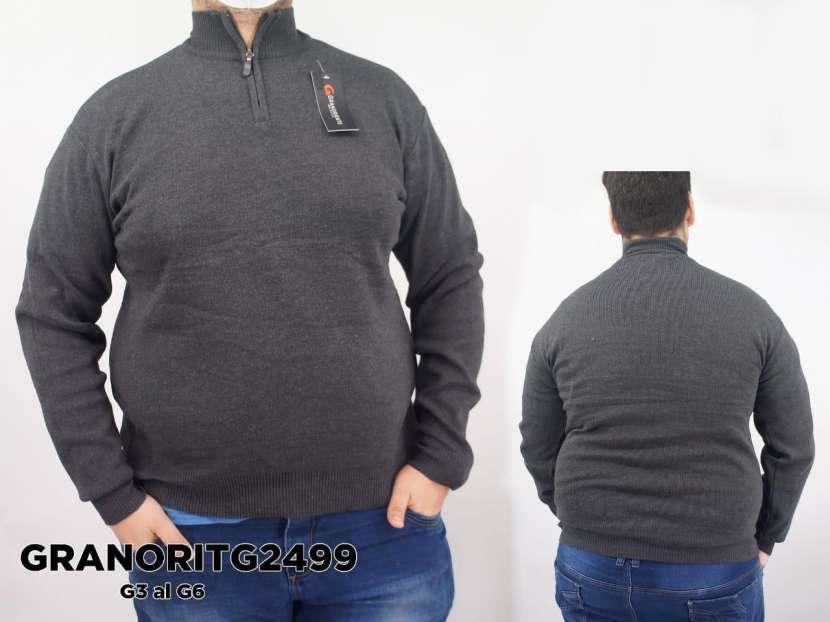Suéter medio cierre liso GRANORITG2499 - 0