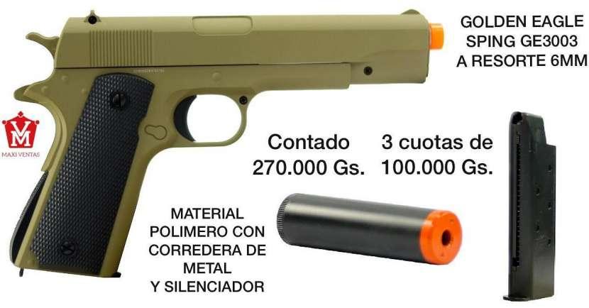 Pistola airsoft Golden Eagle verde claro Spring 6mm - 0