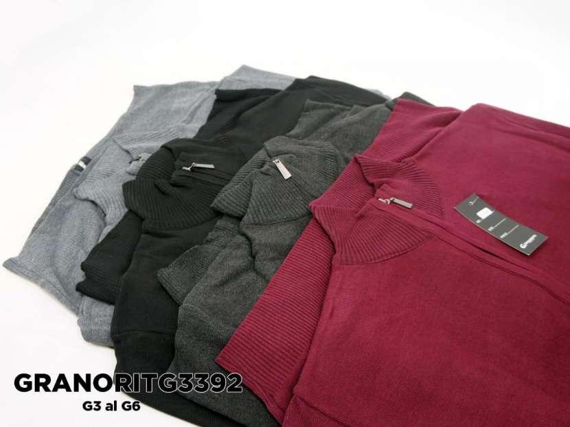 Suéter con cuello alto y cierre completo GRANORITG3392 - 1