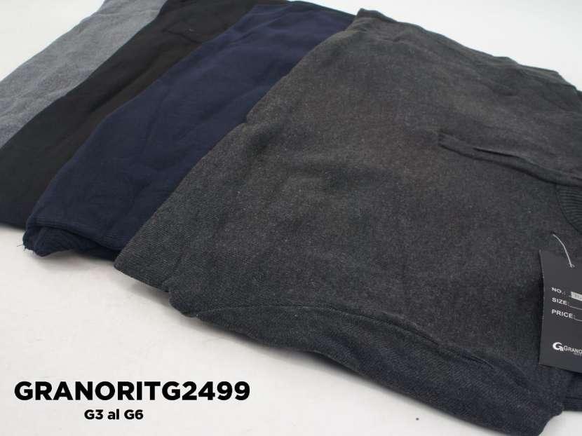 Suéter medio cierre liso GRANORITG2499 - 1