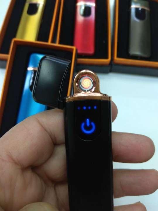 Encendedor eléctrico recargable touch negro - 2