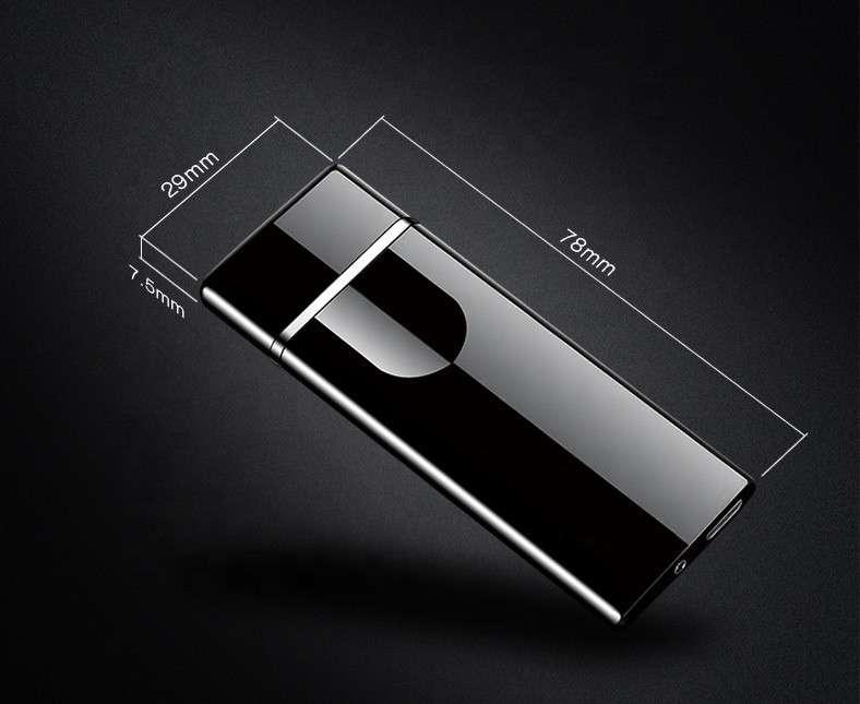 Encendedor eléctrico recargable touch negro - 1