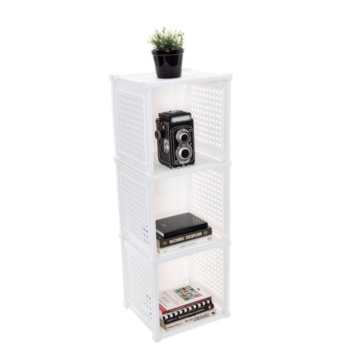 Organizador de 3 cubos plástico - 0