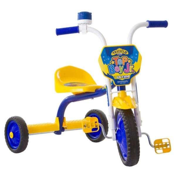 Triciclo top Boy Jr ultra bikes azul amarillo - 0