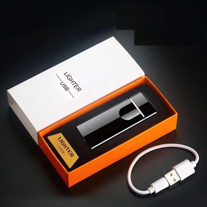 Encendedor eléctrico recargable touch negro - 0