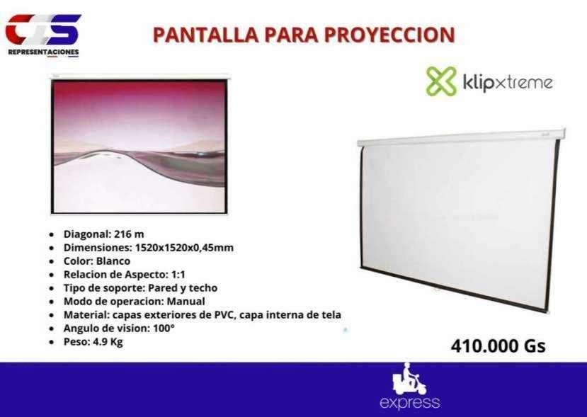 Pantalla para proyector manual Klip Xtreme de pared - 0