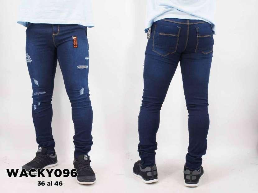 Jeans nacional elastizado con roturas WACKY096 - 0