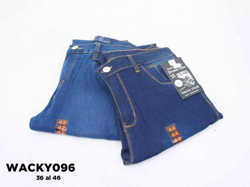 Jeans nacional elastizado con roturas WACKY096 - 1