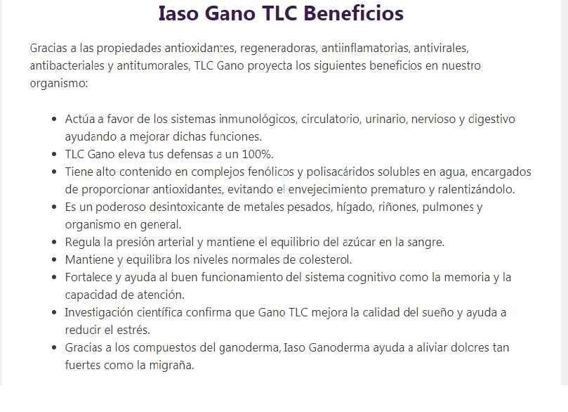 Iaso Gano TLC - 0