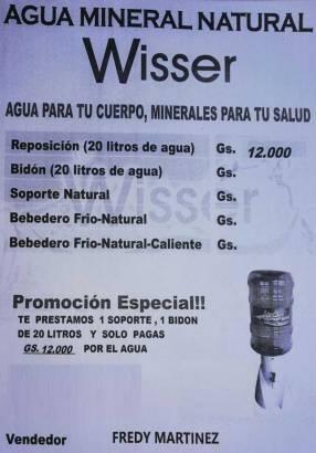 Agua mineral natural Wisser
