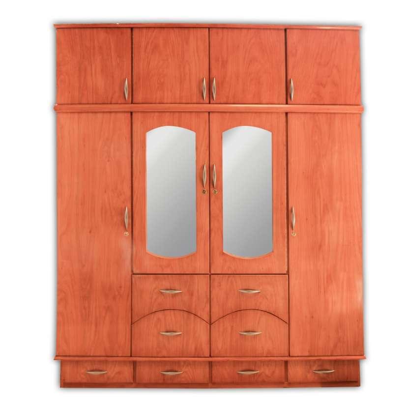 Ropero placar 4 cuerpos de madera con espejo c/ valijera - 1