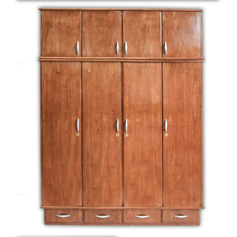 Ropero placar 4 cuerpos de madera con valijera - 1