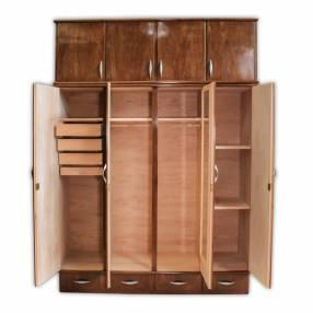Ropero de madera 4 puertas con valijera