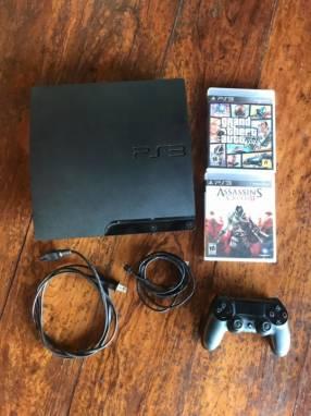 PlayStation 3 + control DualShock + 2 juegos originales
