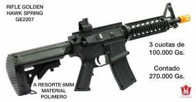 Rifle Airsoft a resorte 6mm material polímero