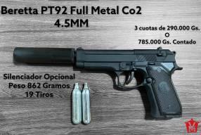 Pistola Airsoft Beretta PT92 Full Metal 4.5mm CO2