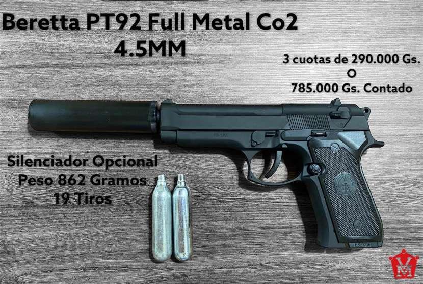 Pistola Airsoft Beretta PT92 Full Metal 4.5mm CO2 - 0