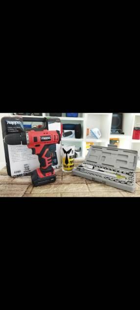 Taladro inalámbrico + kit de herramientas