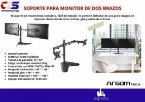 Soporte para 2 monitores Klip Xtreme dos brazos