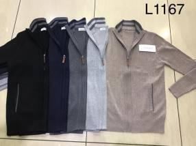 Suéter para hombre con cierre y bolsillo SINGKEIL1167