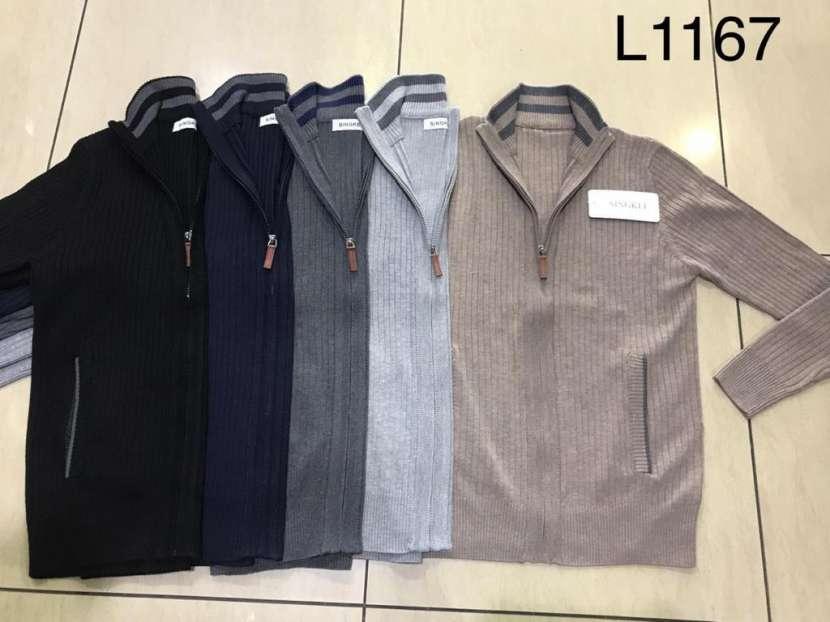 Suéter para hombre con cierre y bolsillo SINGKEIL1167 - 0