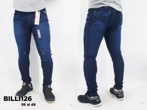 Jeans nacional elastizado con rasgados BILLI126
