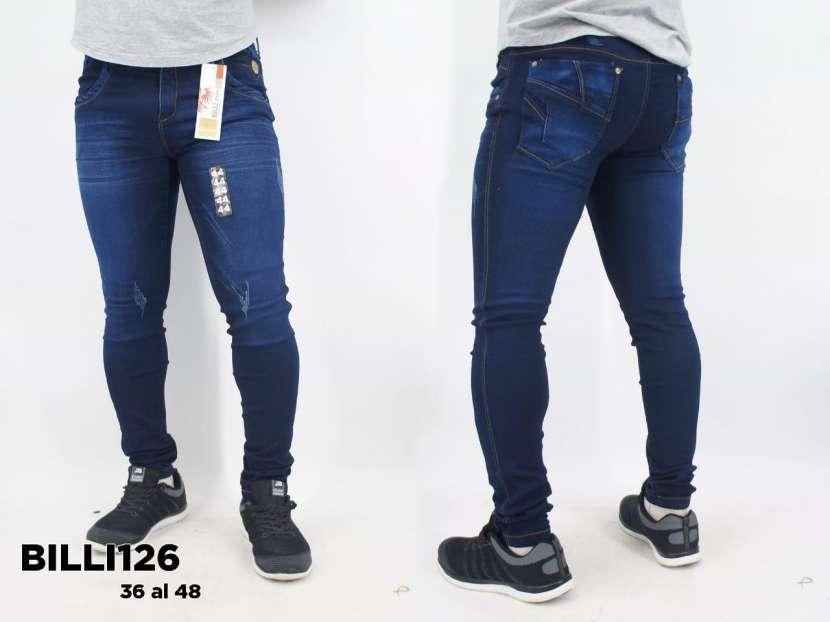 Jeans nacional elastizado con rasgados BILLI126 - 0