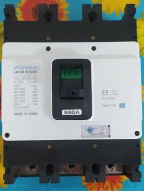 interruptor termomagnetico regulable 630 Amper Hyundai. procedencia Koreana