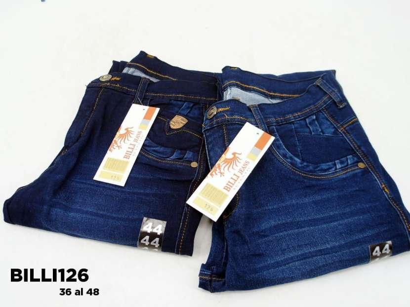 Jeans nacional elastizado con rasgados BILLI126 - 1