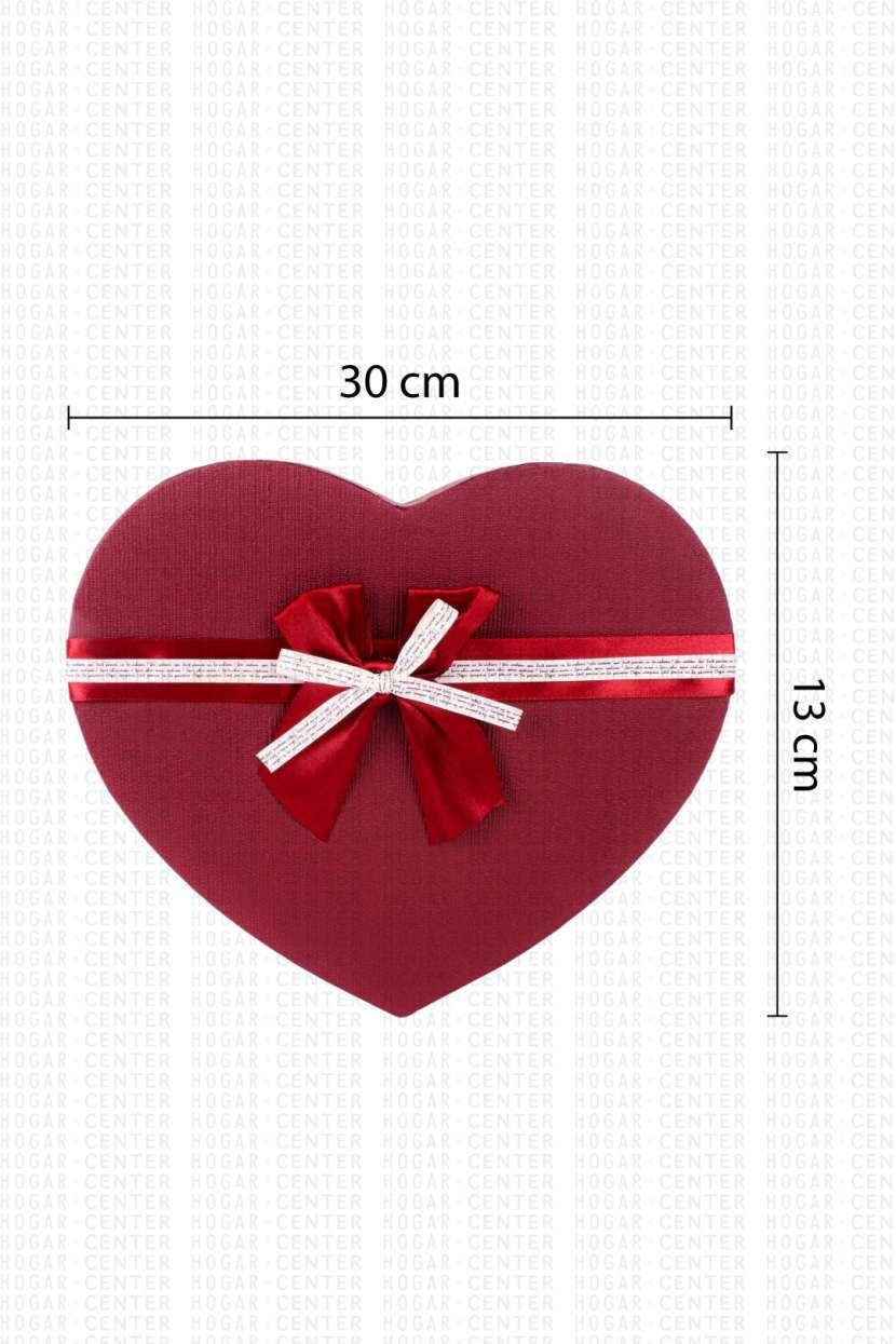 Caja corazón para regalo 30x13cm - 0