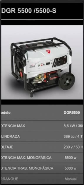 Generador Ducati de 6.5 kva