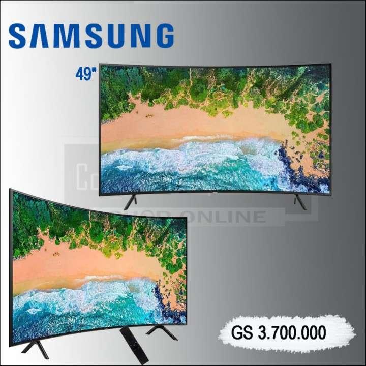 """TV LED 49"""" Samsung UN49NU7300 Curve+Soundbar. - 0"""
