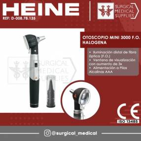 Otoscopio Mini 3000 F.O. halógena Heine