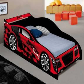 Cama auto Speed Racing J&A negro rojo 30367