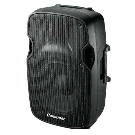 Speaker box con pedestal Consumer 12 pulgadas - 0