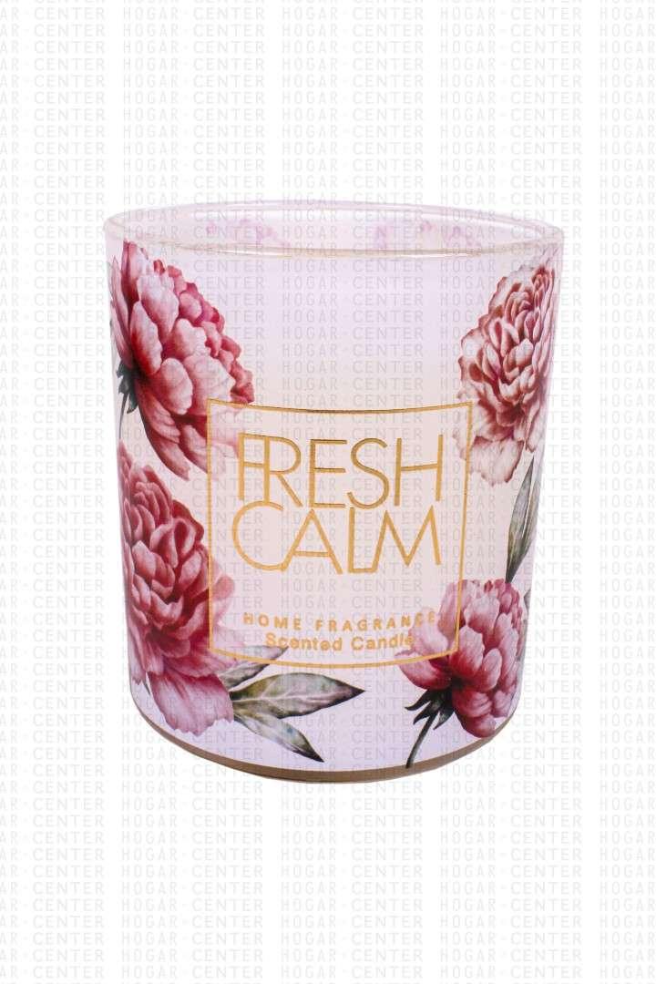 Vela aromática 8x9cm fragancia rosa fresca 210 gramos - 1
