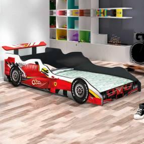 Cama auto fórmula 1 J&A negro rojo 30369