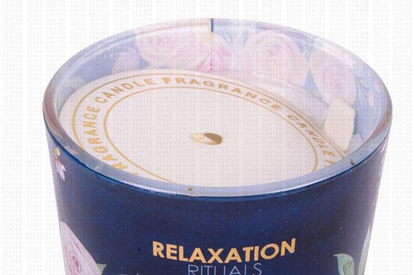 Vela aromática 7x8cm fragancia te blanco y violeta 130 gramos - 0