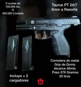 Pistola airsoft Taurus PT 24/7 6mm a resorte
