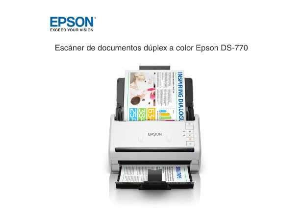 Escáner Epson Workforce DS-770 Duplex - 0